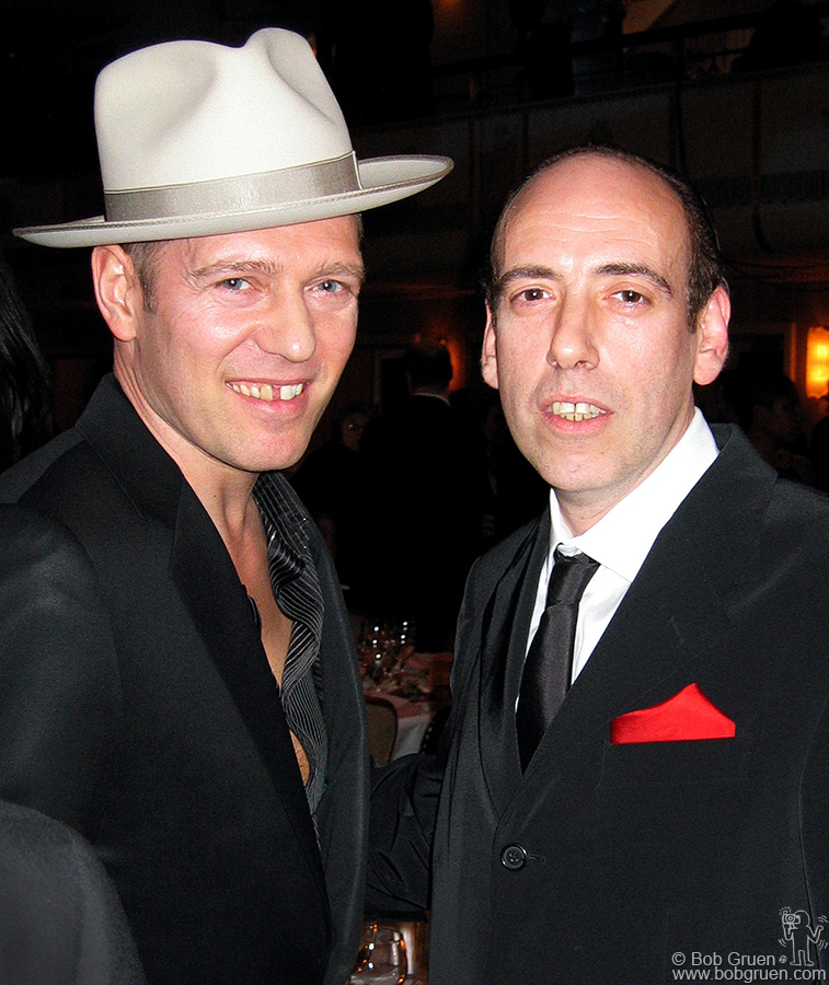 March 10 - NYC - Paul Simonon and Mick Jones arrive at the Dinner.