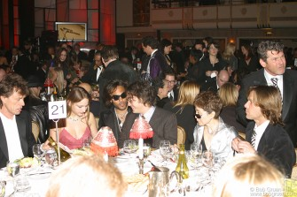 Mick Jagger, Leelee Sobieski, Lenny Kravitz, Sean Lennon, Yoko Ono, Jann Wenner and Matt Nye.