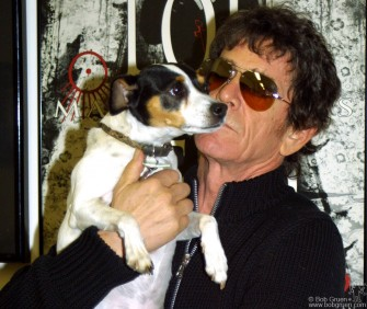 Lou Reed put out two CDs this Spring. I went to photograph him for the French magazine Rock & Folk and Lou posed with his dog Lolabelle.