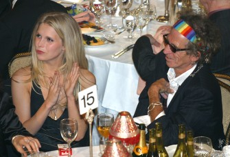 Keith was with his beautiful model daughter, Theodora and they both seemed to have a very good time watching the show.