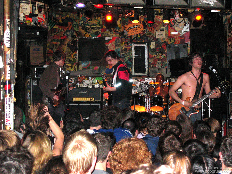 April 30 - NYC - My friend Mick Jones of the Clash told me he produced a CD for the Libertines so I went to see them when they played at CBGB. They were great and I bought the CD, which is now my new favorite.