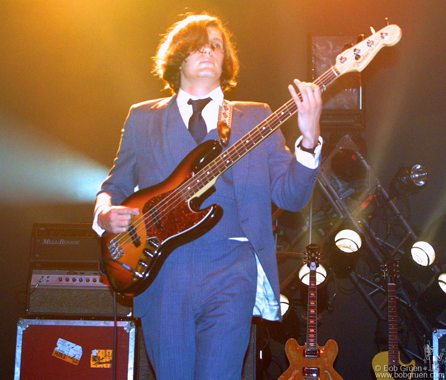 Nikolai Fraiture plays the bass for the Strokes