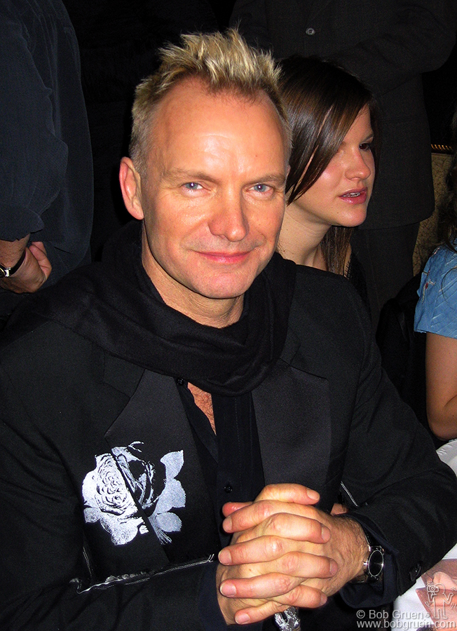 Sting smiles as he is about to be inducted with his band, the Police.