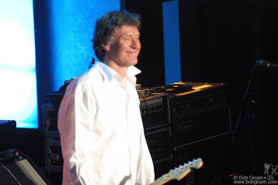 Steve Winwood looked happy to be playing with Traffic again.