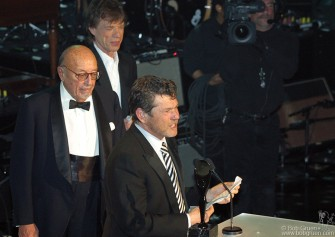 Ahmet Ertegun and Mick Jagger inducted Rolling Stone Magazine Publisher and Founder Jann Wenner.