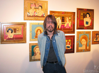 "David Johansen had an opening in New York at the Ricco/Maresca Gallery featuring his paintings of  ""Saints & Sinners""."