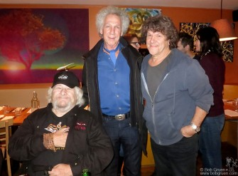 Oct 17 - At the BMI dinner I met Wavy Gravy and said hello to my old friend Michael Lang.