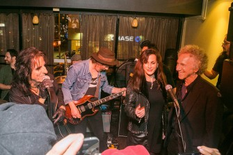 Oct 23 - My birthday party this year was the best yet! Alice Cooper came and sang 'I'm Eighteen', and insisted I sing backup with his wife Sheryl. See it on Youtube. Photo by David Appel.