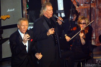 """Billy Joel inducted the Righteous Brothers, Bill Medley and Bobby Hartfield, who then sang their hit """"You've Lost That Lovin' Feeling""""."""