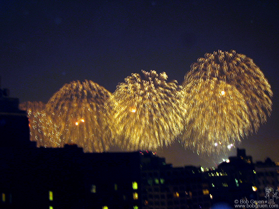 Ryan's manager, Ryan Gentile, let us visit his roof to watch the grand fireworks show.