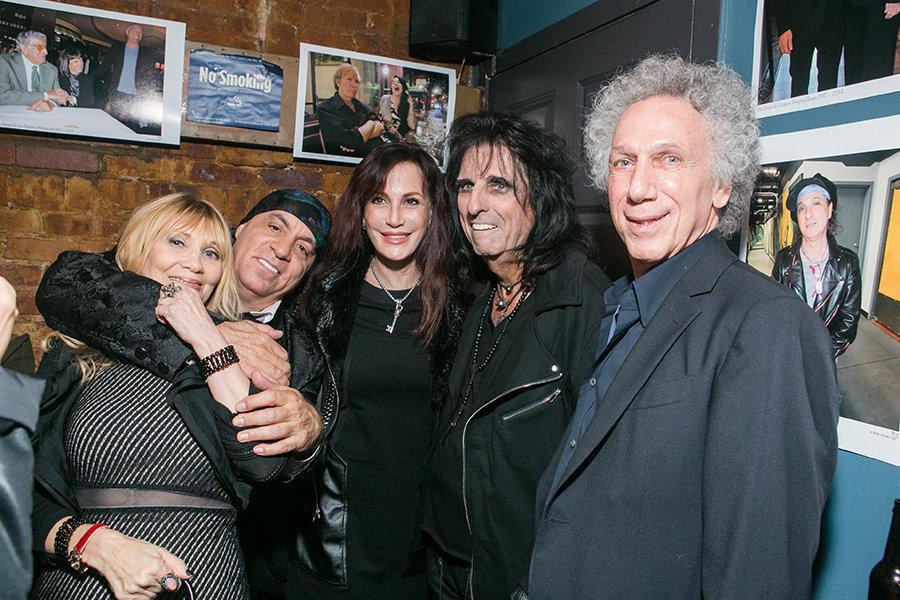 Maureen Van Zandt, Little Steven, Sheryl Cooper & Alice Cooper all came to wish me Happy Birthday. Photo by David Appel.