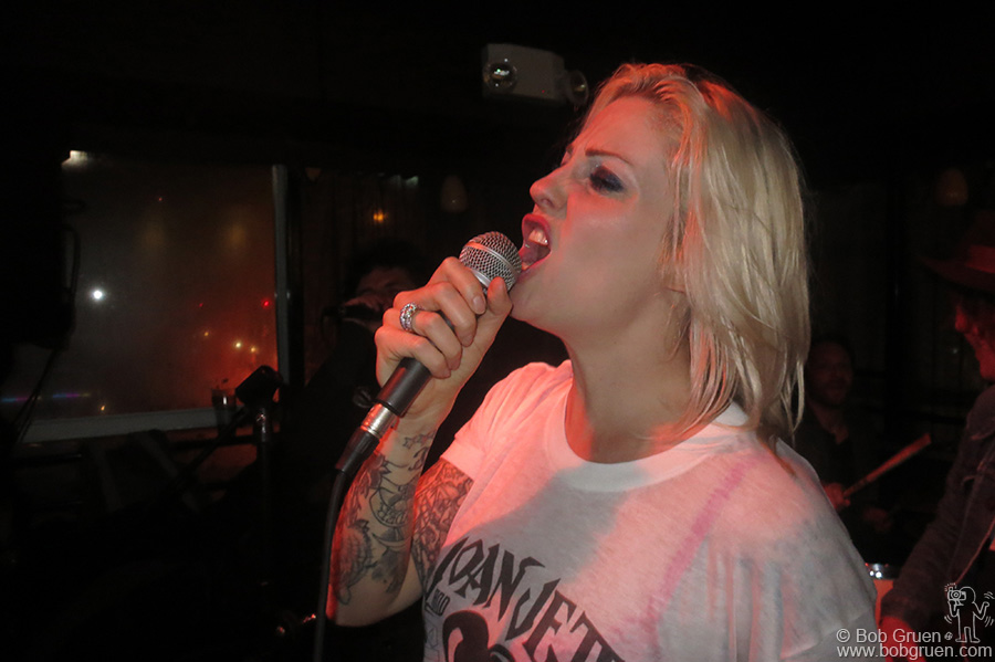 Brody Dalle of the Distillers also sang a very punk song at the party.