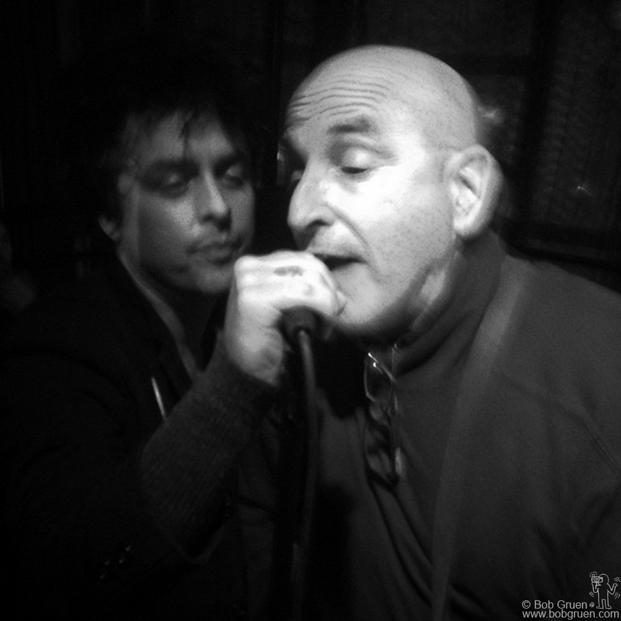Bille Joe Armstrong & Paul Collins singing 'Hanging On The Telephone' originally recorded by Paul's band the Nerves before Blondie made it a hit.