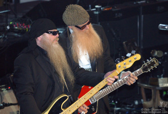 Dusty Hill and Billy Gibbons played some rousing ZZ Top hits.
