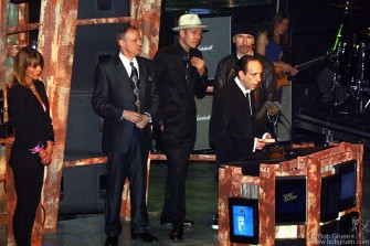 """Joe Strummer's wife Lucinda, original drummer Terry Chimes, Paul Simonon and Mick Jones thanked the R&R Hall of Fame and expressed how sorry they were that Joe was gone. Paul described the band as """"brothers in arms fighting to get our message across."""" Mick said he was accepting the award on behalf of """"all the garage bands that never may have dreamed of this type of moment."""" They also thanked drummer Topper Headon and Manager Bernard Rhodes who couldn't make it to New York."""