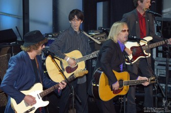Dhani then played with Jeff Lynne and Tom Petty who inducted George recalling that they knew him well when they played together in the Silver Willburys.