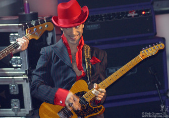 """Then Prince joined them with a fantastic guitar solo on """"While My Guitar Gently Weeps""""."""