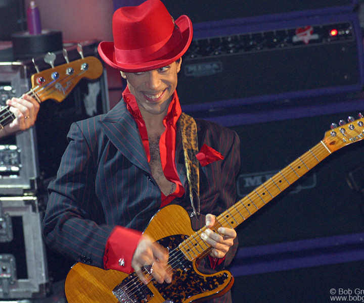 "Then Prince joined them with a fantastic guitar solo on ""While My Guitar Gently Weeps""."
