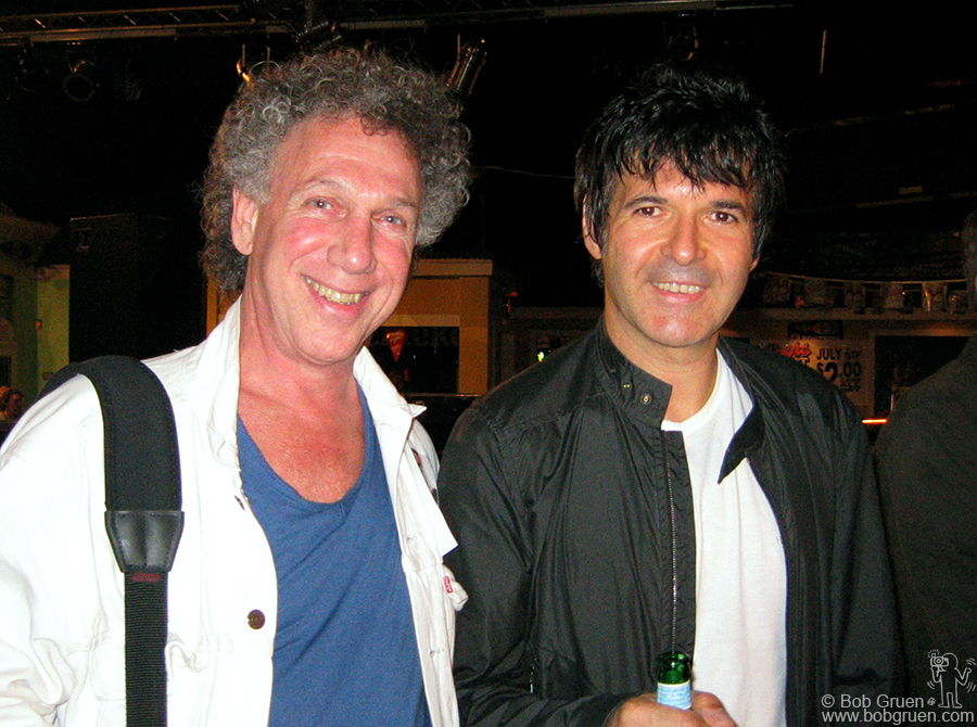 After the Blondie show my wife Elizabeth took a photo of me with drummer Clem Burke. Clem was feeling great and looking forward to a long tour with Blondie.