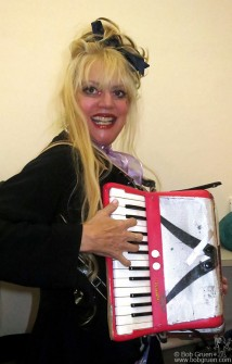 Oct 29 - The unique performance artist Phoebe Legere played her accordian as part of an evening of cool downtown fun.