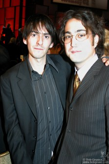 After the show, Dhani Harrison says Hi! to Sean Lennon.