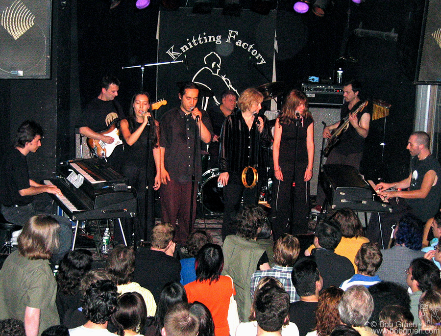 July 1 - NYC - Avant-Guarde French band Magma played in New York for only the third time in their more than 30 year history. They can't be described, as they sing in a made up language with a very varied musical background.