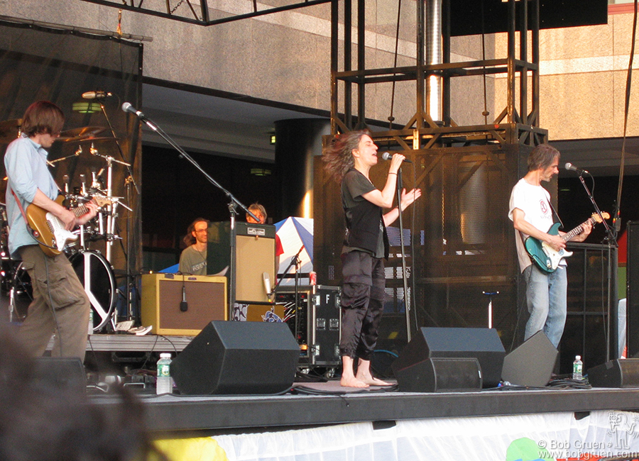 July 8 - NYC - The Patti Smith Group appeared in the Belly of the Beast at the World Financial Center across from Ground Zero.