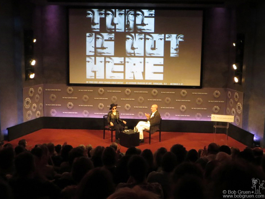 Nov 11 - NYC - Anthony DeCurtis interviewed Yoko Ono to promote the new book of Yoko's artwork just published by Genesis.