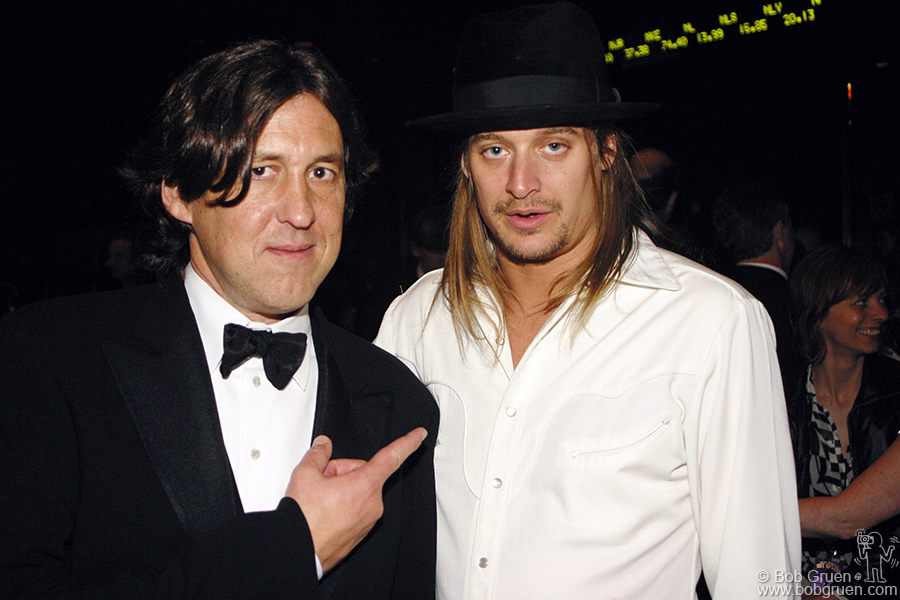 Downstairs at the afterparty, Cameron Crowe and Kid Rock.