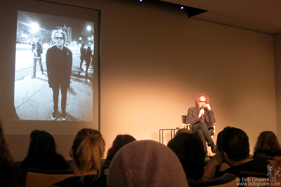Nov 13 - NYC - One of my favorite photographers, David Godlis gave a talk about his work. He has a new book of his Punk Rock photos coming out thanks to his successful Kickstarter campaign.