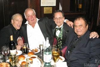 Famed DJ Jerry Blavatt with Seymour Stein, Billy Kornreich and publicist Pete Benett.