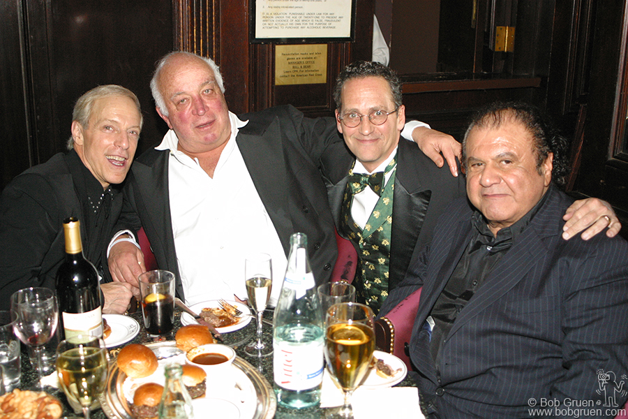 Famed DJ Jerry Blavatt with Seymour Stein, Billy Kornreich and publicist Pete Benett.