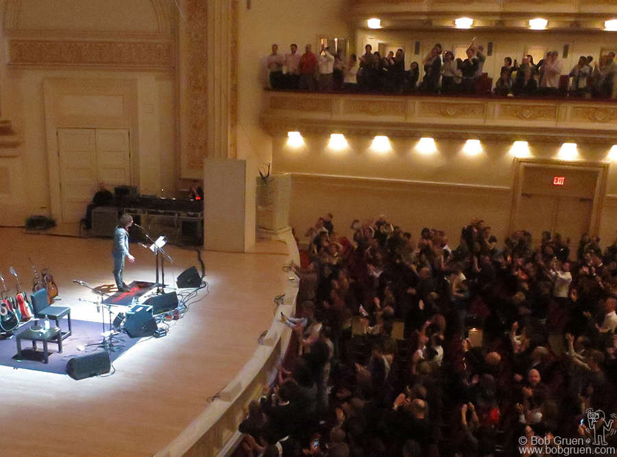 Nov 17 - NYC - Ryan Adams showed he has practiced enough to play a solo acoustic show at Carnegie Hall.