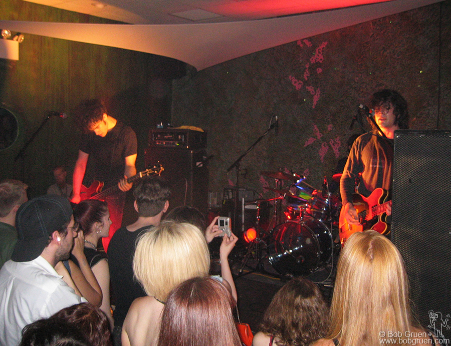 July 11 - NYC - Black Rebel Motorcycle Club rocked at the Coral Room in New York. The club was packed as the band played a long loud set while mermaids swam in the giant fish tank behind the bar.