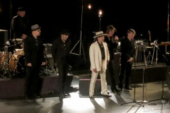 Dec 1 - Bob Dylan played with his band and sang like a crooner without using a guitar all night.