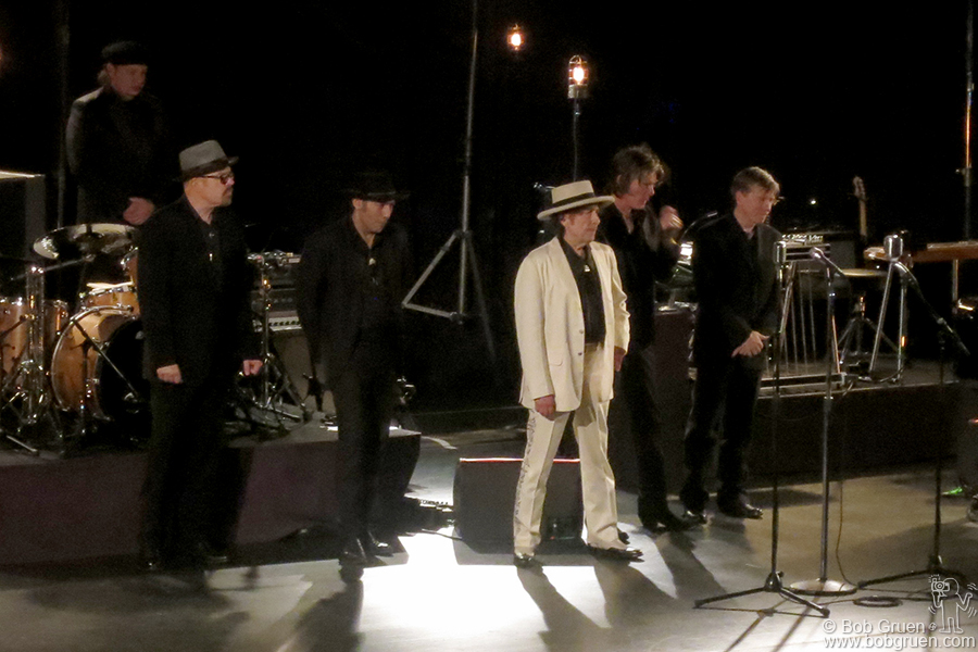 Dec 1 - NYC - Bob Dylan played with his band and sang like a crooner without using a guitar all night.