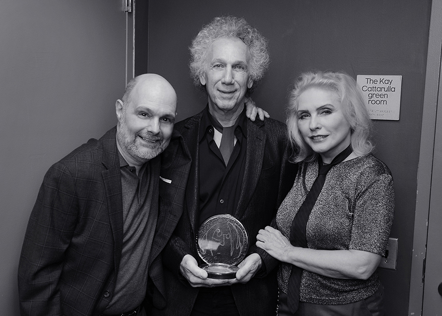 Dec 5 - NYC - Joe Raiola has organized a John Lennon Tribute concert for 34 years now and this year he and Debbie Harry presented me with the 'John Lennon Real Love' award in recognition of my many charitable contributions.