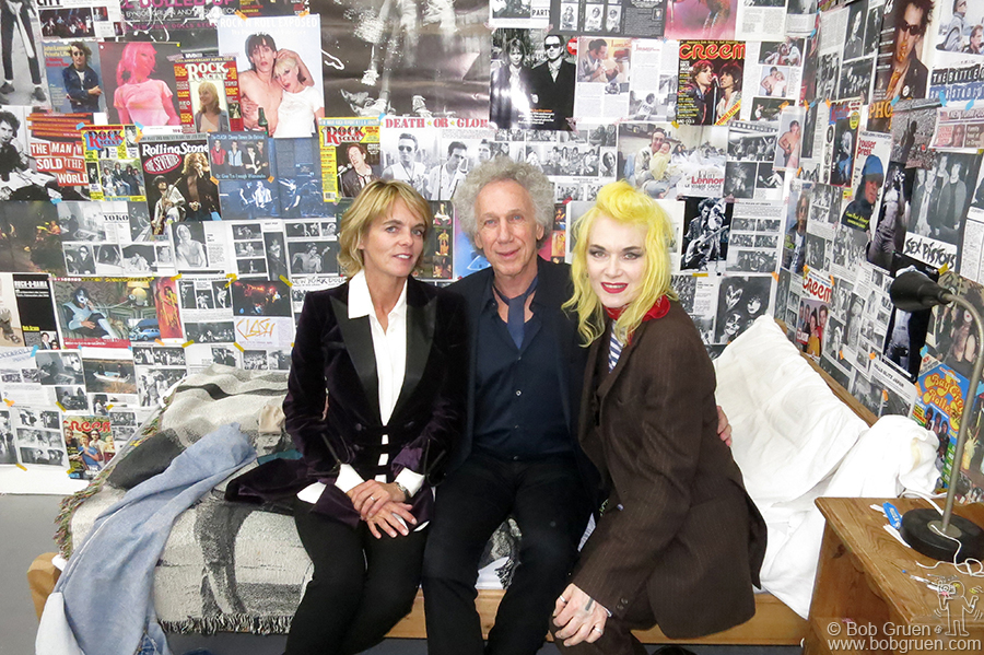 I chatted with Lucinda Garland and Pam Hogg in the 'Teenage Bedroom' installation at my exhibition.
