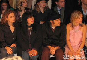 Anna Sui and Vincent Gallo were in the front row at Marc Jacob's show.