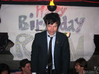 "Nov 5 - Ryan Adams celebrated his birthday at a surprise party at the 3 of Cups in NYC. He said ""My mind is full of demons, and I'm just feeding them chocolate!"""