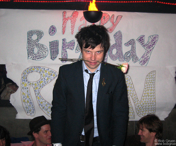 "Nov 5 - NYC - Ryan Adams celebrated his birthday at a surprise party at the 3 of Cups in NYC. He said ""My mind is full of demons, and I'm just feeding them chocolate!"""