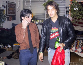 Around dawn, Julian Casablancas of the Strokes arrived to chill for awhile. It was after 8AM by the time we left.
