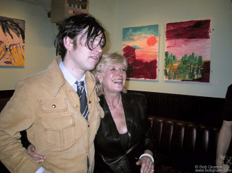 Sept 4 - Less than a week later, Ryan had a party for the opening of a show of his paintings at Niagara, Ave A and 7th Street. Marianne Faithfull came to the party, and Ryan showed off his work. The night before she had added some vocals to a track on a new album Ryan was recording.