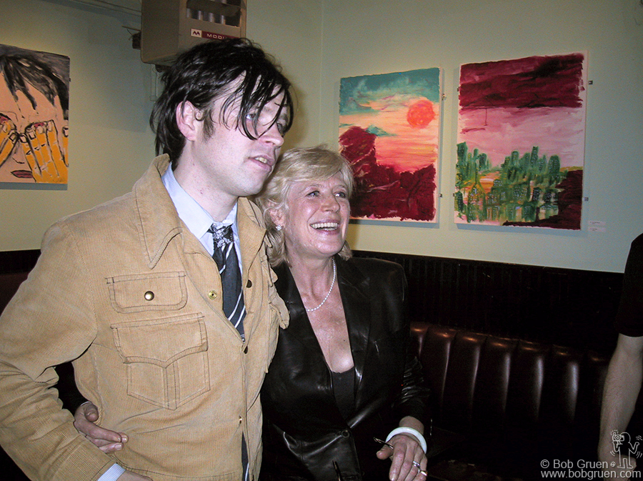 Sept 4 - NYC - Less than a week later, Ryan had a party for the opening of a show of his paintings at Niagara, Ave A and 7th Street. Marianne Faithfull came to the party, and Ryan showed off his work. The night before she had added some vocals to a track on a new album Ryan was recording.