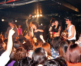 July 18 - On our first night in Tokyo, we went to Shimokitazowa for a memorial tribute to Johnny Thunders. Lenny Kaye (from Patti Smith's band) was there and joined Sheena & the Rokkets and Diamond Yukai for a few songs.
