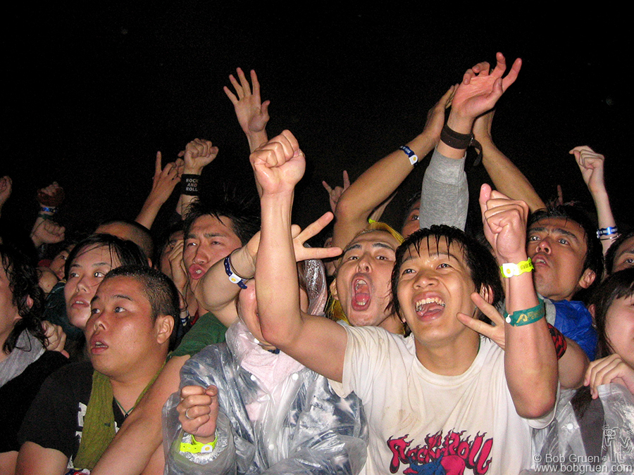 Even in pouring rain Iggy's fans were so hot steam was rising from the mosh pit.