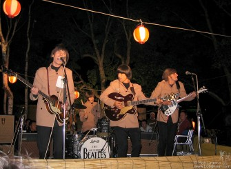 July 27 - The Counterfeit Beatles played all over the festival, from the main Green Stage to a small one set up in the woods. Wherever they played everyone who saw them sang along. You gotta love the Beatles.