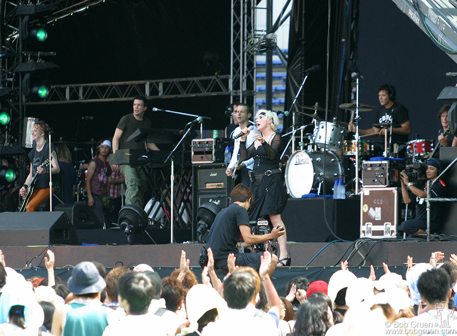Aug 3 - Tokyo - We saw a Blondie warm-up show at a small bar in New Jersey so we were glad that before we left Japan we could catch up with their world tour at the Summersonic Festival outside Tokyo. It was Blondie's first trip back to Japan in 20 years. The sold out show in Chiba Stadium was fantastic.