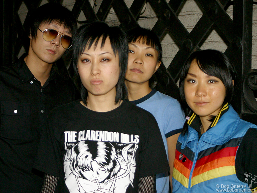 "Oct 27 - NYC - I was hired to shoot ""Hang on the Box"" a punk gurl band from Beijing. They seemed hip and very nice to me, but a few weeks later the Chinese Govt. canceled their visas saying they were not good representatives of China."
