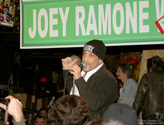 "Handsome Dick Manitoba said that ""Joey Ramone Place"" wasn't good enough, it should have been and Avenue or Boulevard!"